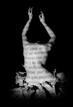 espalda escrita